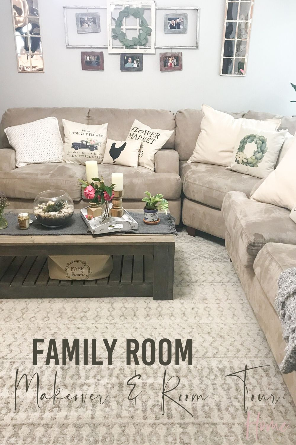 Our Family Room Tour and Makeover