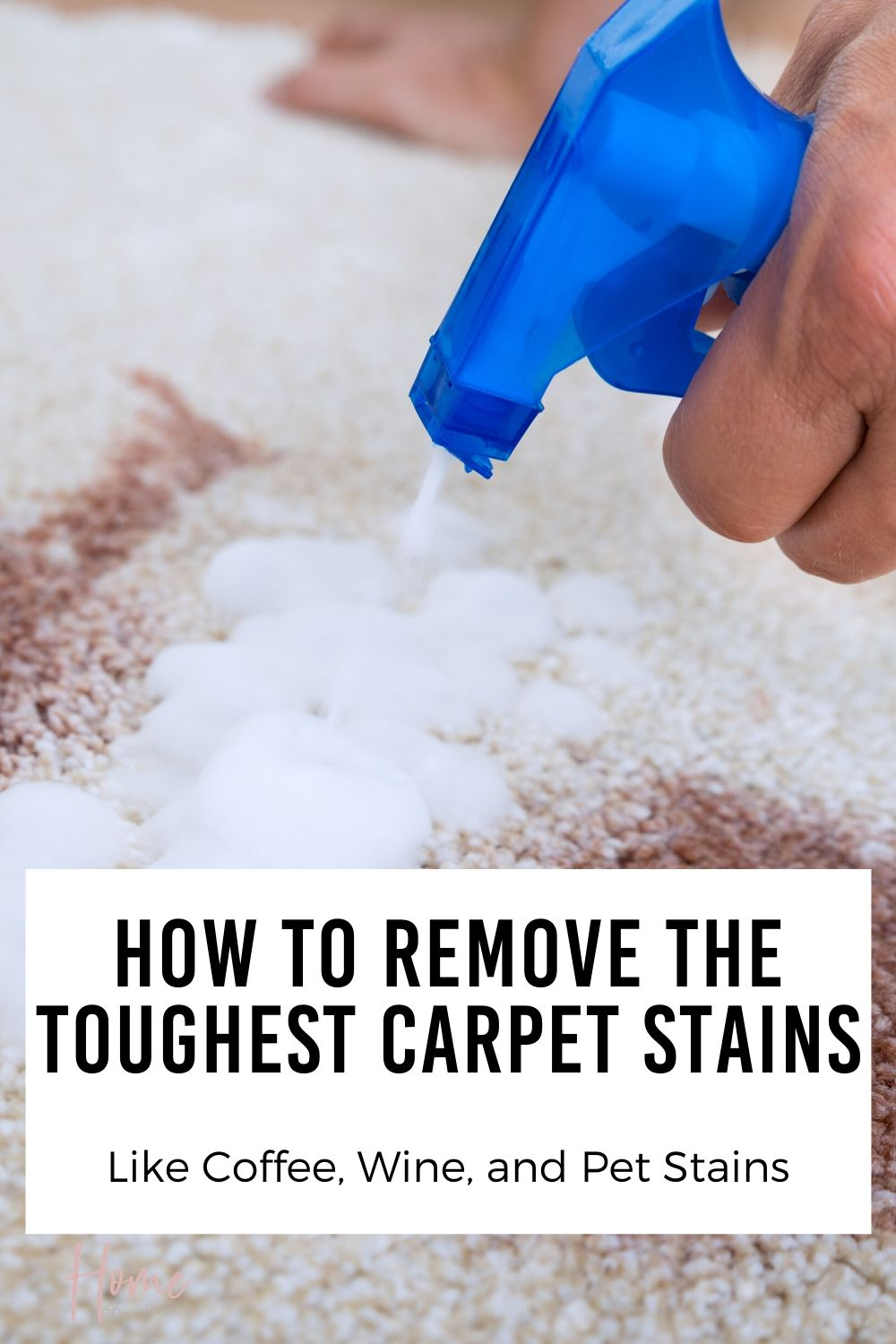 How to Remove Carpet Stains Like Coffee and Pet Stains via @homebyjenn