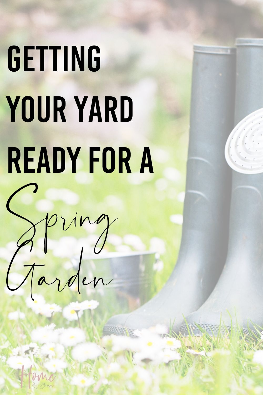 Get your garden ready for spring. Take these spring gardening tips so you can enjoy a spring garden. Learn what tasks should be done and how to care for your garden in the spring. via @homebyjenn