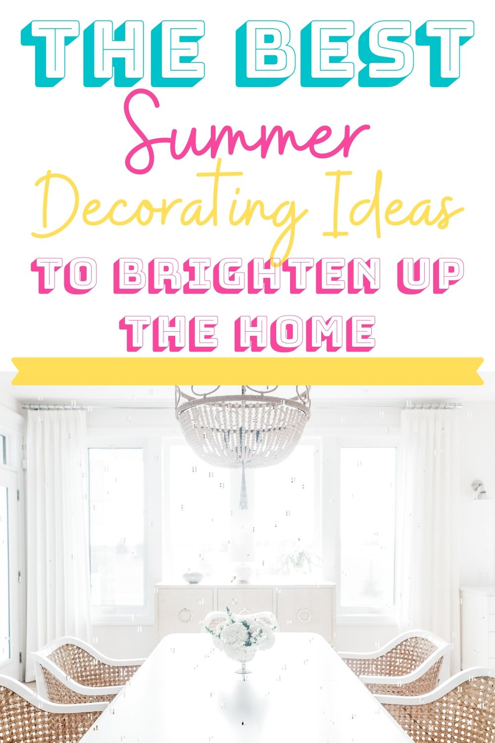 These summer decorating ideas will brighten up your home for the warm weather. You'll find the best tips to enjoy light and bright decor for the sunny days. #summer #decorating #freshen #light #bright #decor #home #affordable via @homebyjenn