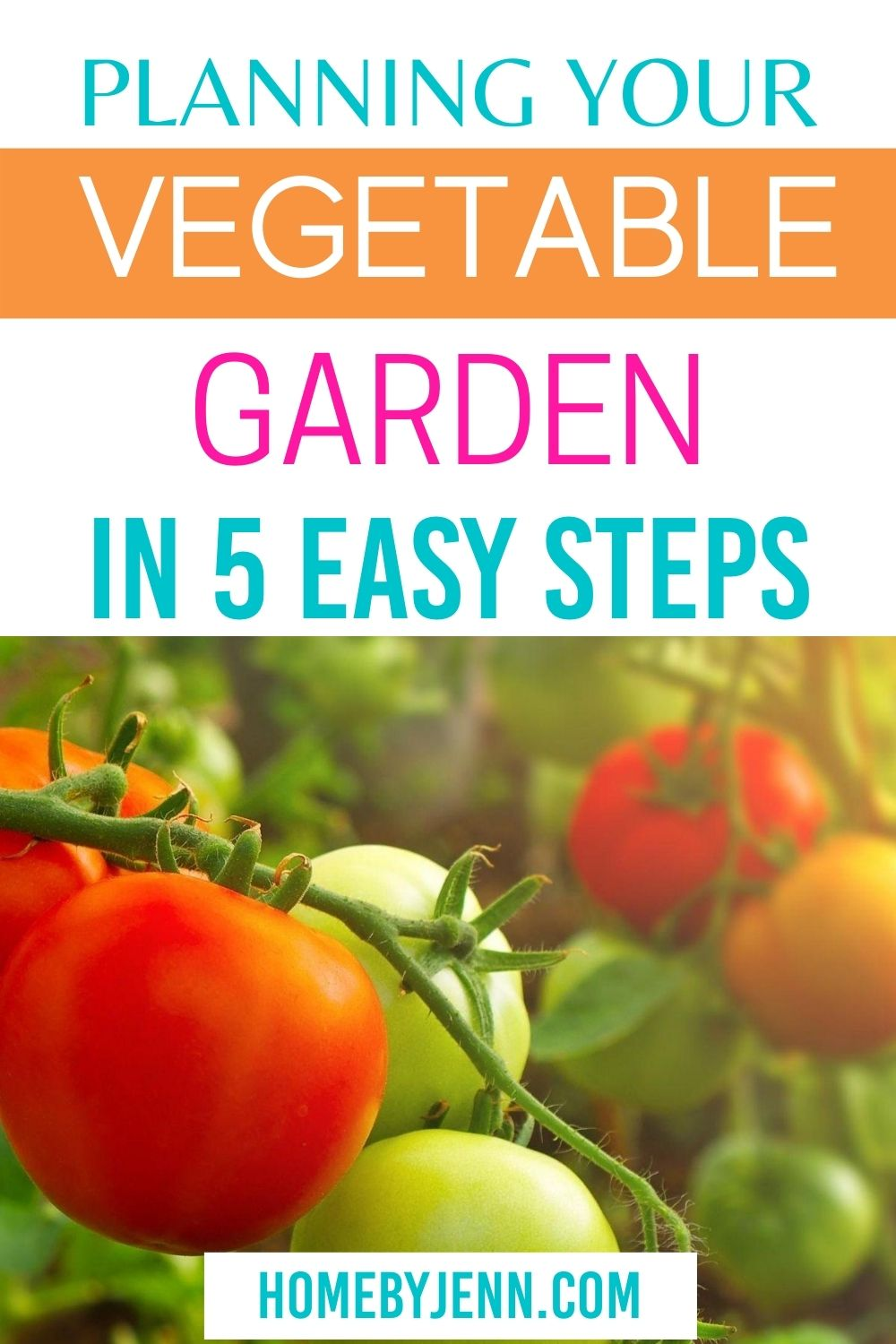 Plan out your square foot veggie garden in 5 simple steps. Take your garden to the next level with a free garden planner. #garden #veggiegarden #vegetablegarden #squarefoot #squarefootgarden via @homebyjenn