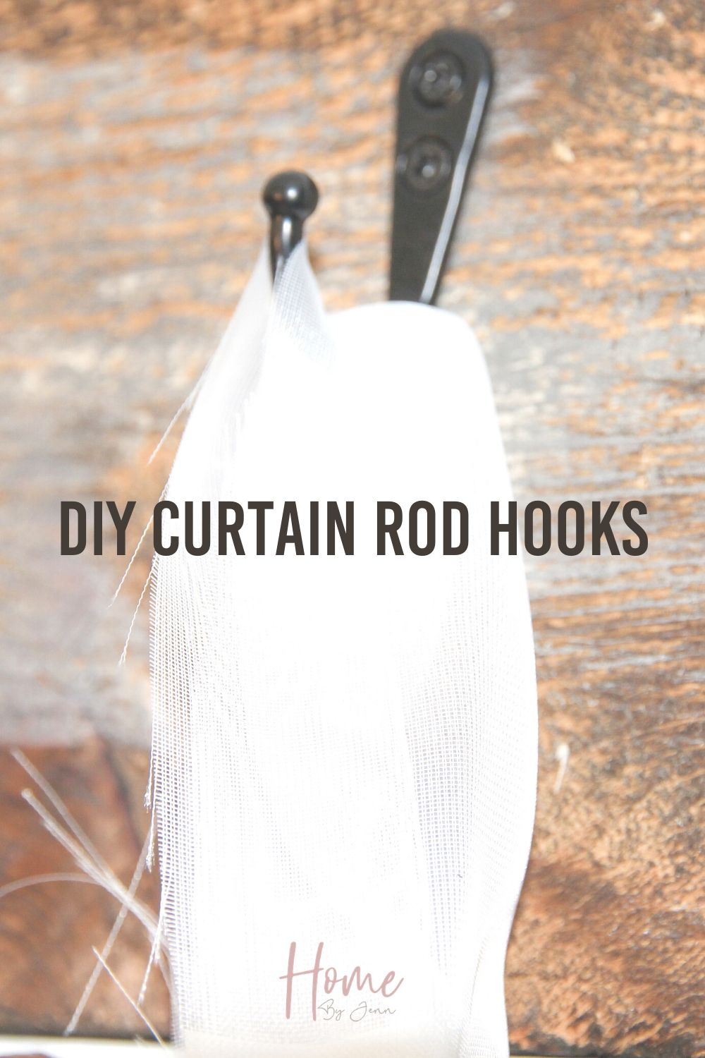 Here is a creative way to hang curtains without a curtain rod. This DIY curtain rod is a budget-friendly home decor project that is simple to do. via @homebyjenn