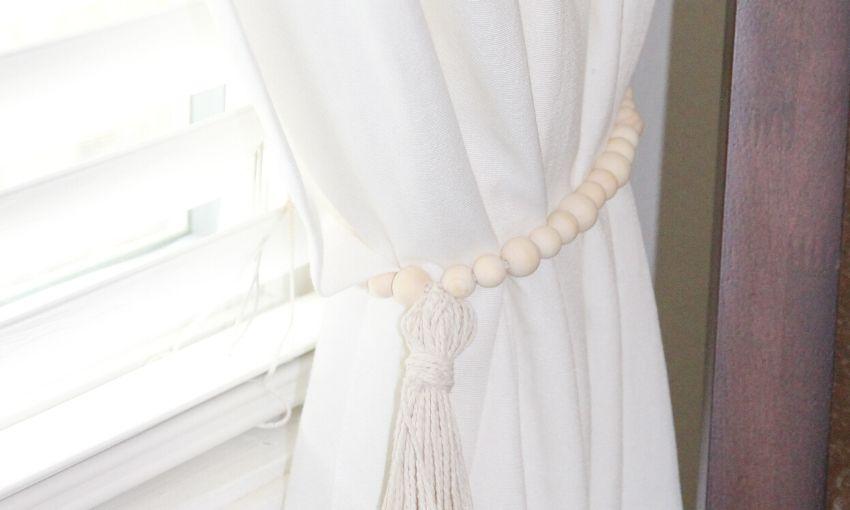 How To Make Curtain Tiebacks Home By Jenn
