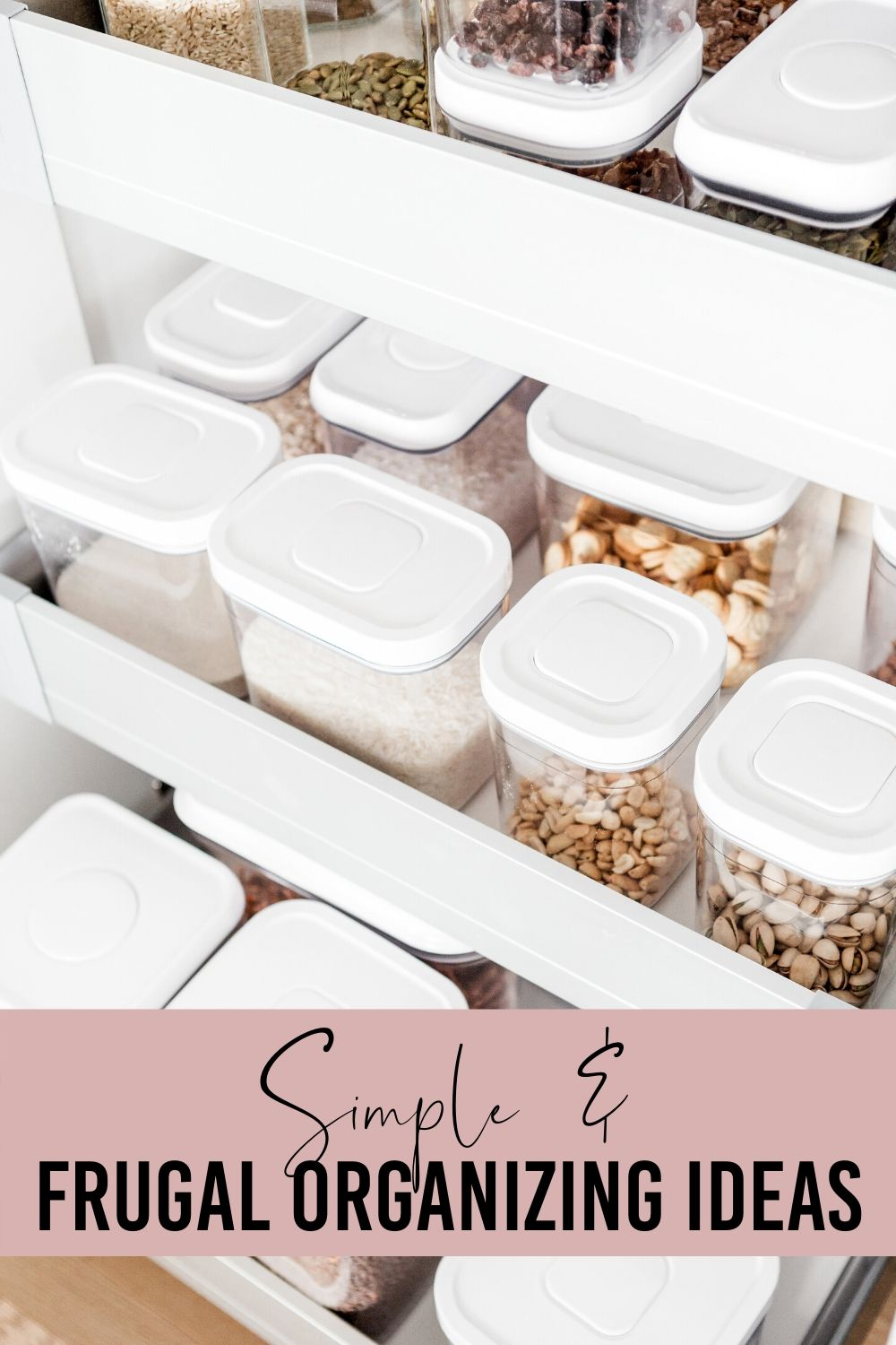 Learn how to save money while organizing your home. These money saving tips will help you with your organizing. #budget #frugal #moneysavingtips #budgetideas #organizingideas #organizedhome via @homebyjenn