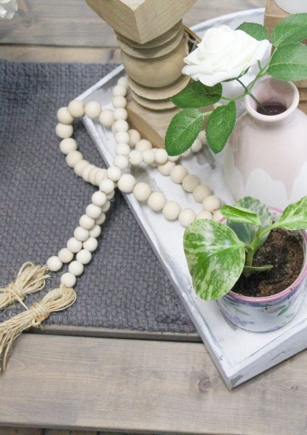 How to Make a Wooden Bead Garland With Tassel