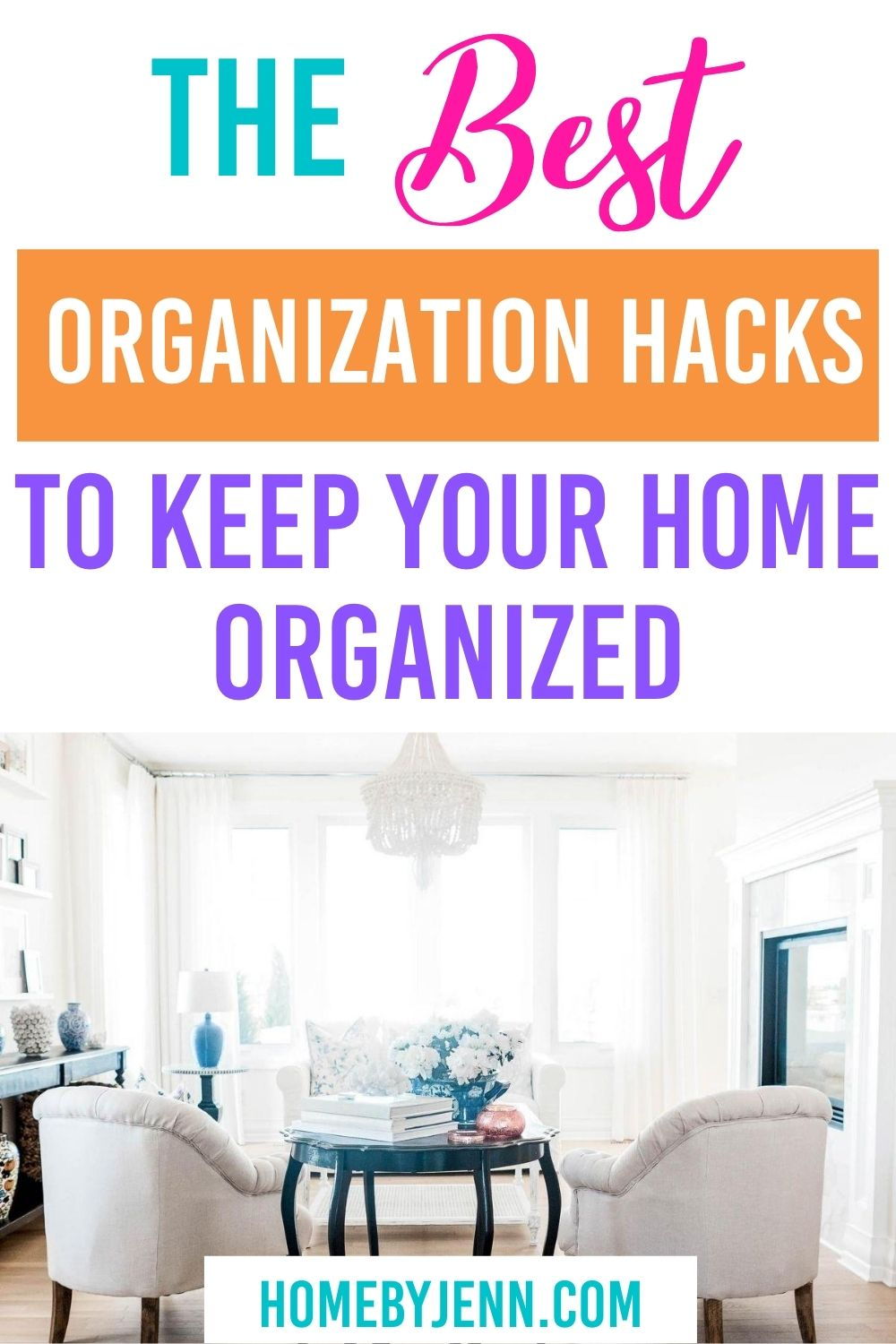 Keep your home organized with these home organization hacks. You'll learn the best organization hacks to keep your home organized in this post. via @homebyjenn