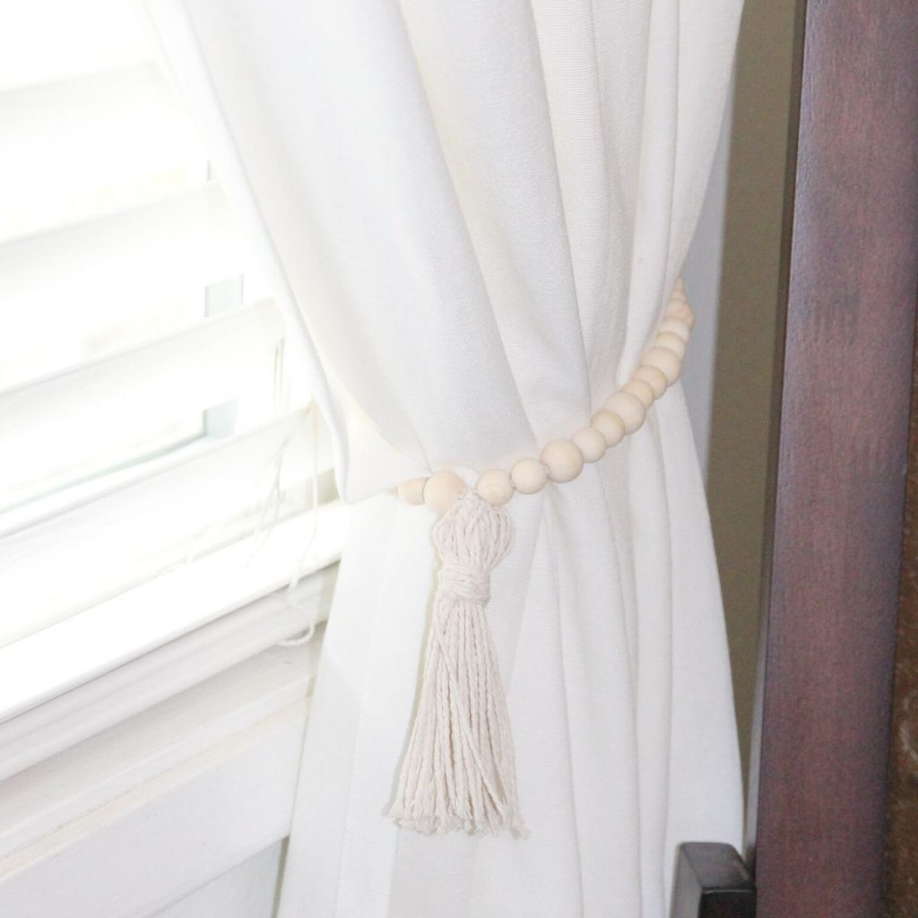 How To Make Curtain Tiebacks Home By Jenn