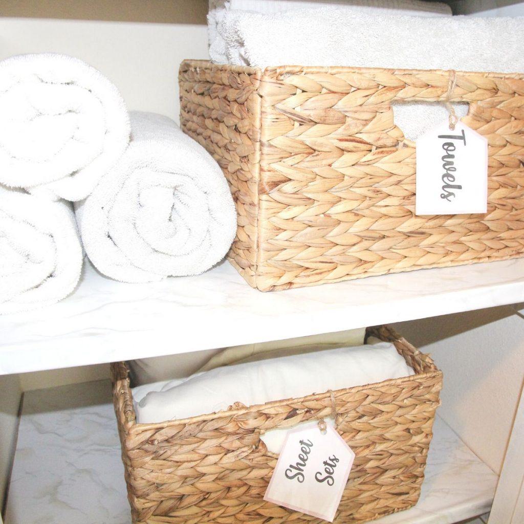 How To Organize A Linen Closet Home By Jenn