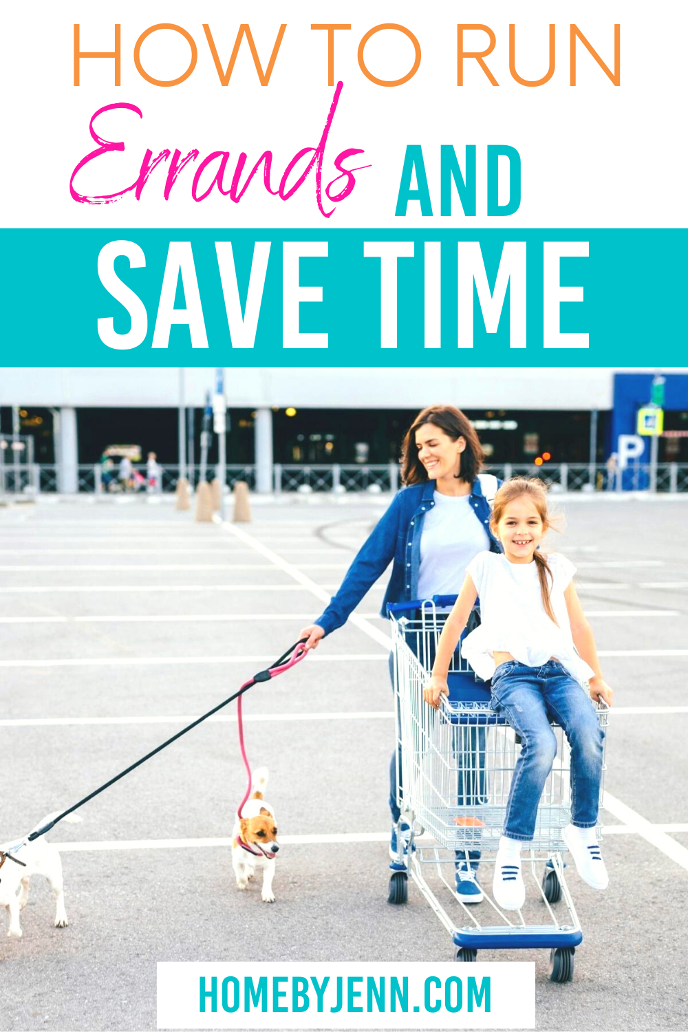 Save time by creating an errand day. By creating an errand day you'll be more productive. #timemanagement #timemanagementtips #savetime via @homebyjenn