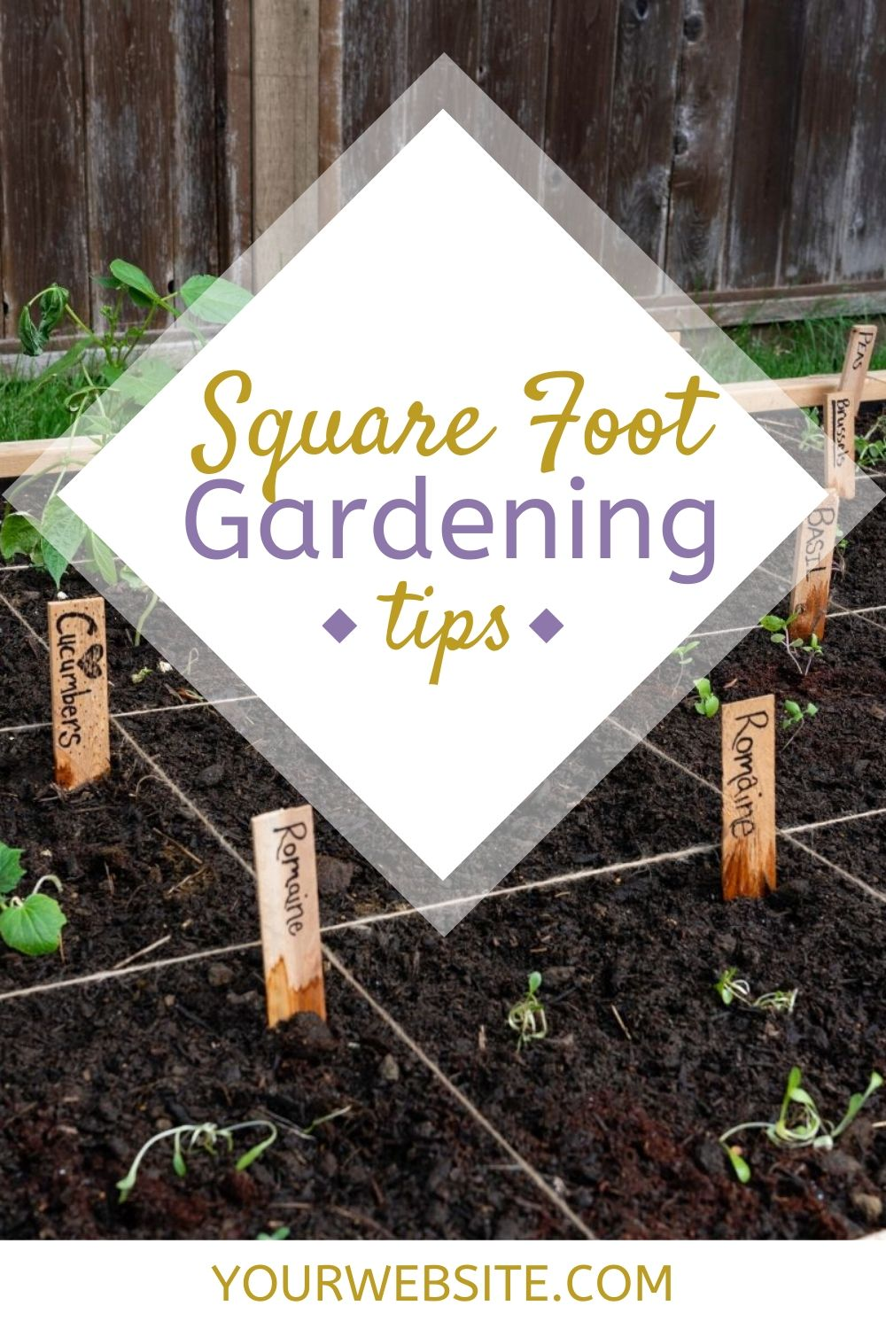 Start growing your own food in your own square foot garden. Plan out your square foot garden with these gardening tips plus download the free garden planner. via @homebyjenn