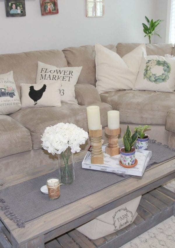 DIY Rustic Coffee Table + Free Plans
