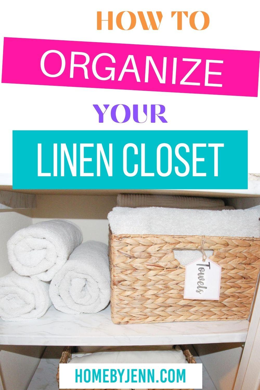 How to organize a linen closet via @homebyjenn