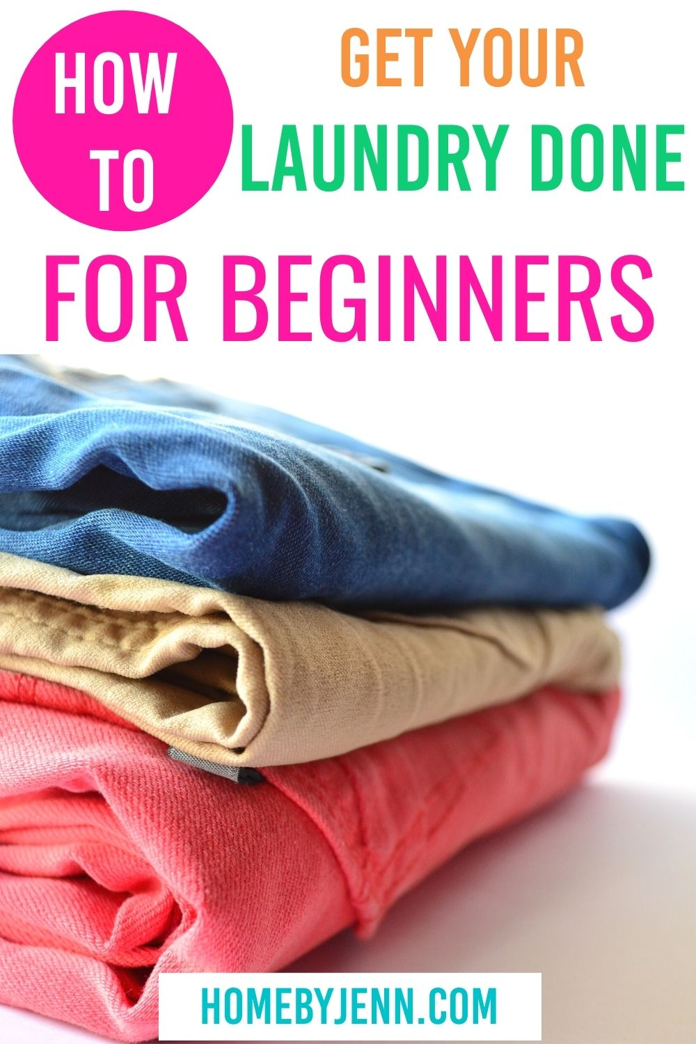 Learn the basic steps on how to do laundry the right way! From detergents to water temperatures and all things in between! Plus free checklist | #laundry #howto #basics #garment #clothing #care via @homebyjenn