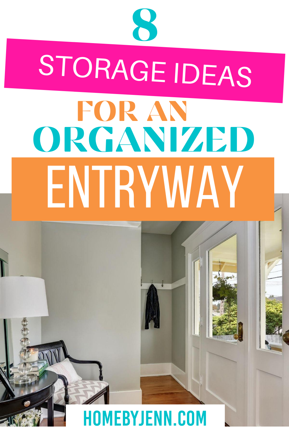Make your entryway more functional and inviting with some entryway storage ideas. These budget-friendly organizing ideas will allow you to have an organized entryway in no time. via @homebyjenn