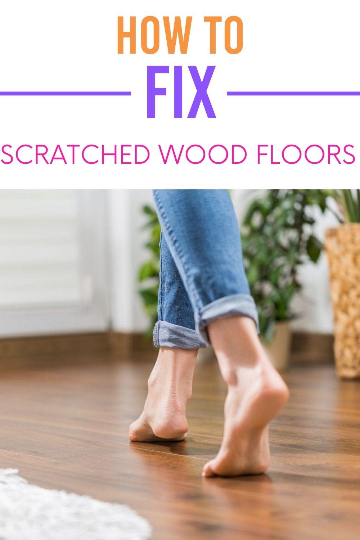 Fix scratched flooring via @homebyjenn