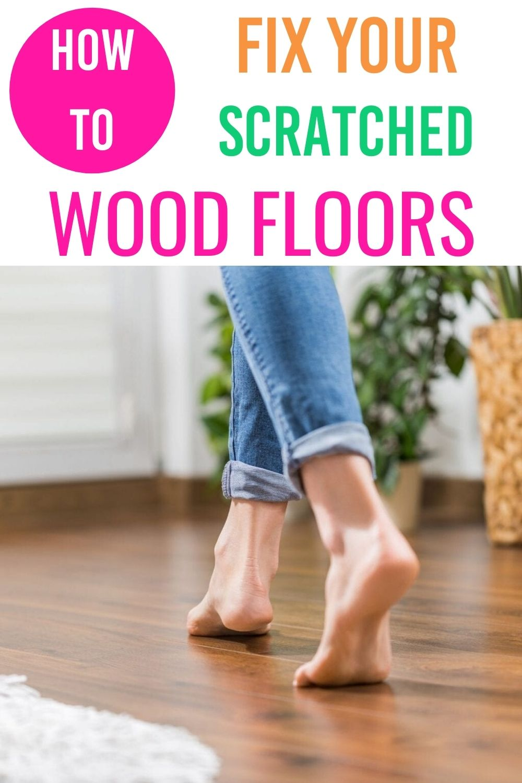 fix scratched wood floors via @homebyjenn