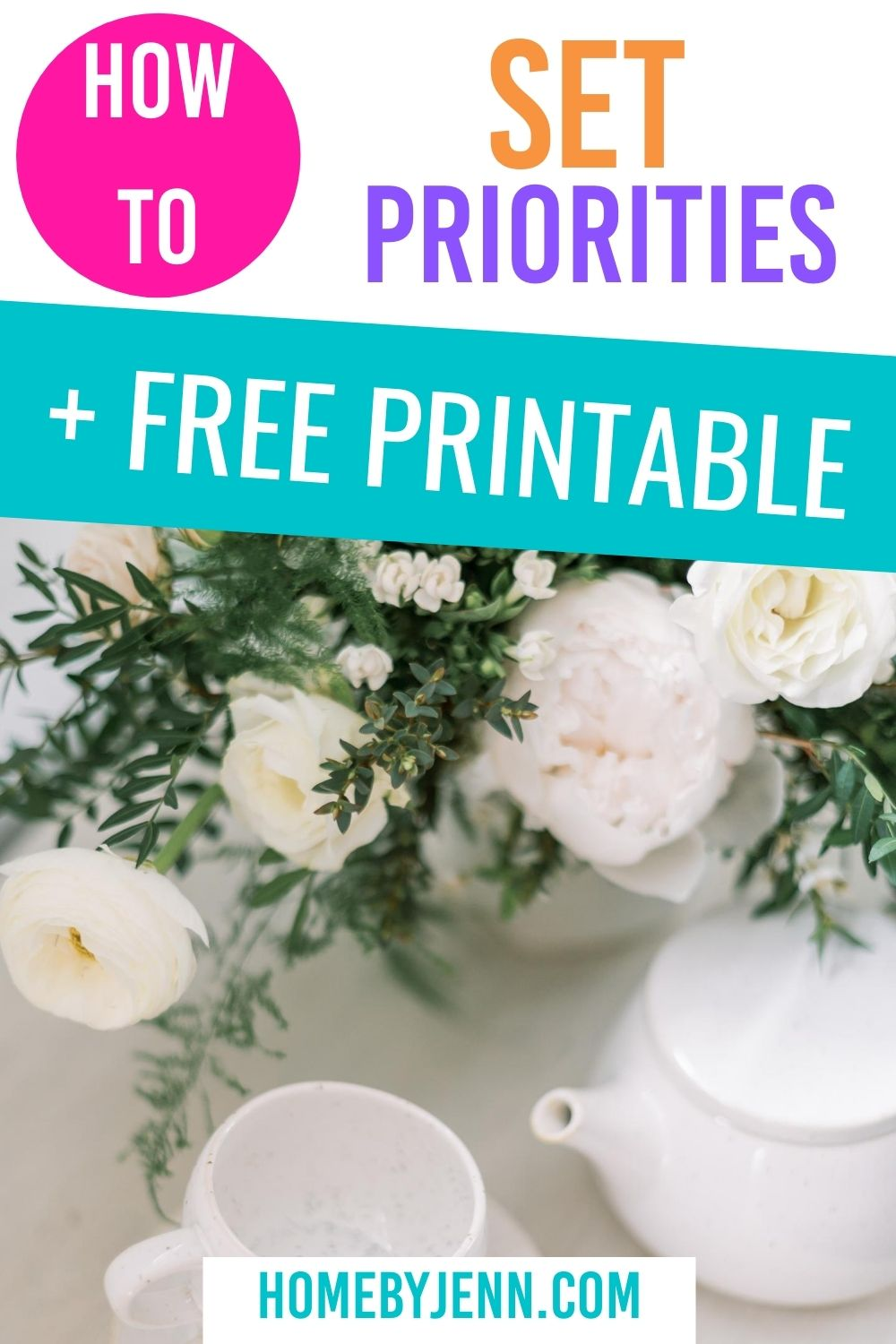 Set priorities so you know what to focus on in the limited amount of time you do have. This will help you save time and become more efficient. #timemanagement #timesaving #timesavingtips #timemanagementtips #setpriorities #wheretostart via @homebyjenn