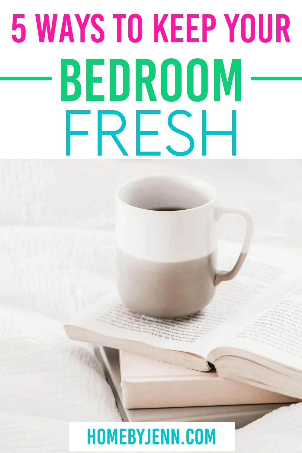 If you're ready to keep your bedroom fresh each day, it just requires a few simple tips on your part to make it happen. Once you get into a rhythm, you'll find that your bedroom feels nice, new, and clean every single day. via @homebyjenn