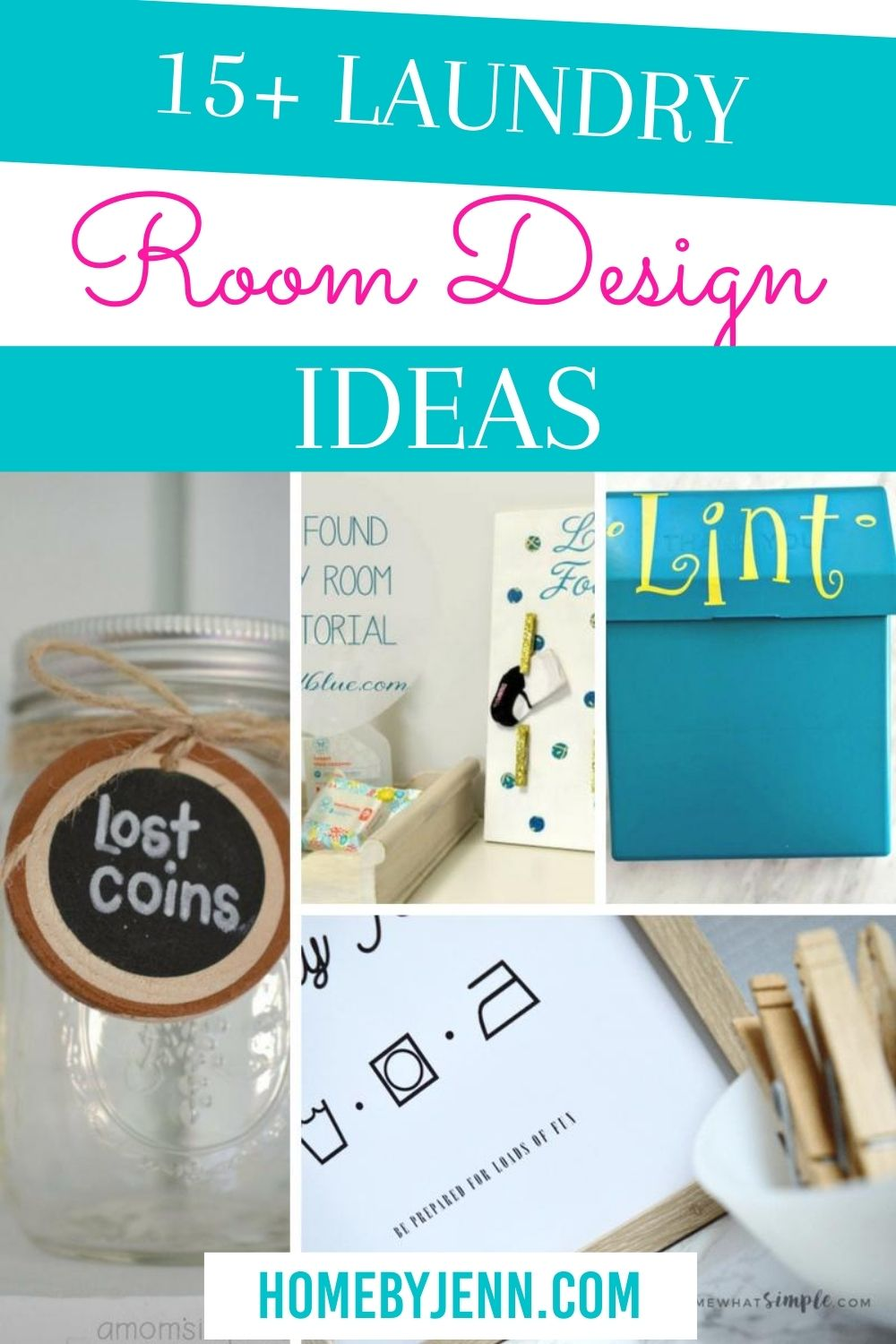 Get the best laundry room decor ideas to transform your laundry room. Become inspired to see some great laundry room decor. #laundryroom #laundryroomdecor #laundry #DIY #homedecor via @homebyjenn