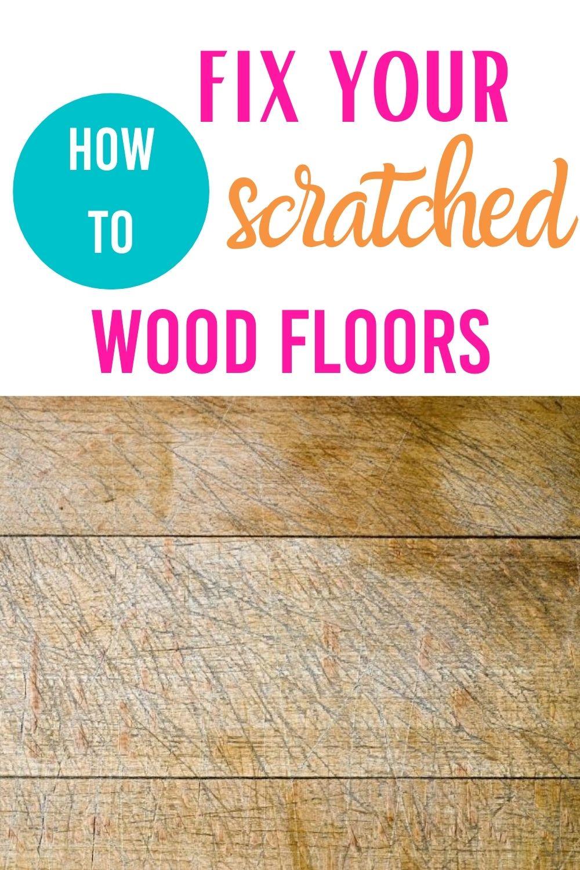 fix scratched wood floor via @homebyjenn