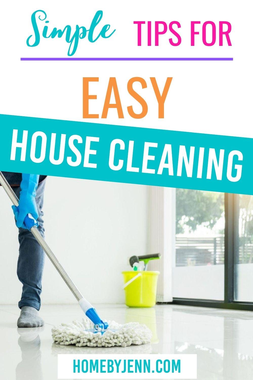 mopping the floor via @homebyjenn
