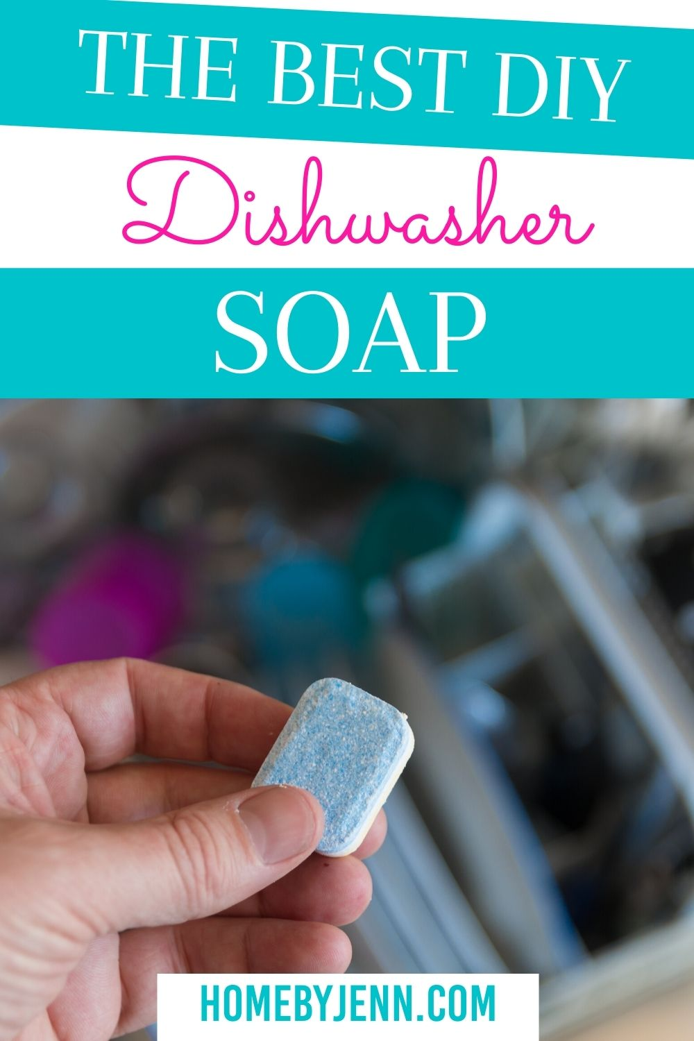 The Best DIY Dishwasher Soap. You may have used other homemade dishwasher soap in the past that just didn't work well. Check out the best homemade dishwasher soap. via @homebyjenn