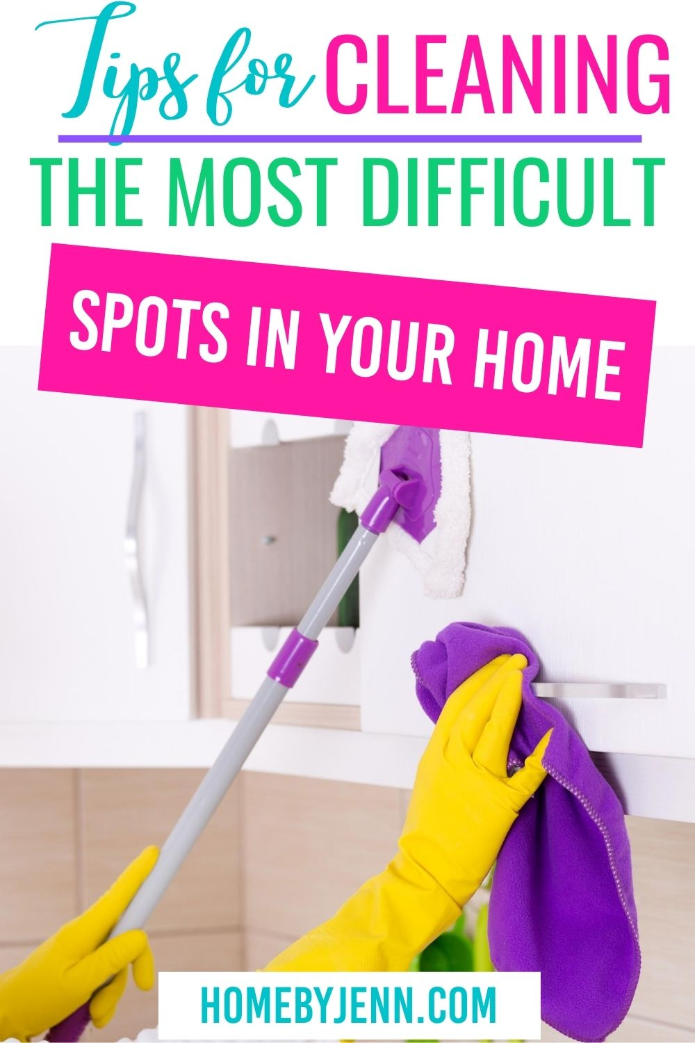 Are you ready to start cleaning the most difficult spots in your home? Luckily I've got some of the best cleaning tips to make that mountain into a molehill. Your house will be spick and span clean in no time at all. via @homebyjenn