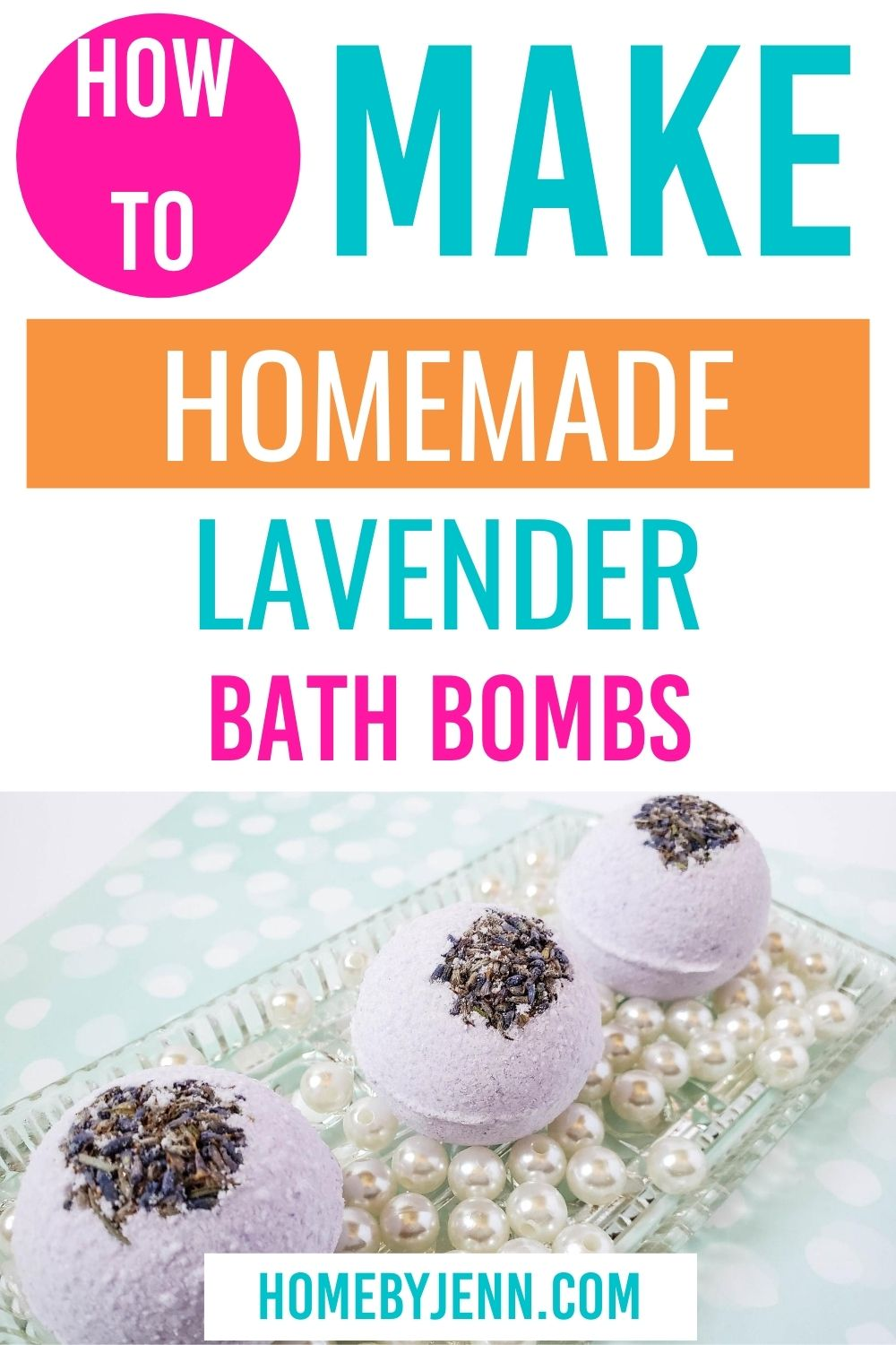 Homemade bath bombs are really easy to make. In this post, you'll learn how to make bath bombs. Check out this simple DIY bath bombs recipe. via @homebyjenn