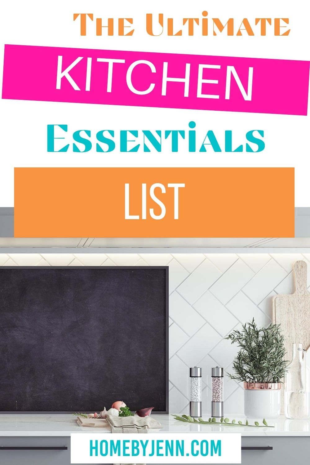 Enjoy cooking in a kitchen with all of the essentials. In this post, you'll learn the kitchen essentials list so you'll have a kitchen stocked with what you need to be successful in the kitchen. via @homebyjenn