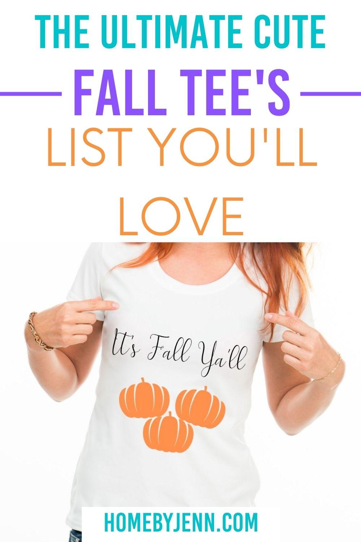 It's fall ya'll with pumpkins graphic tee via @homebyjenn