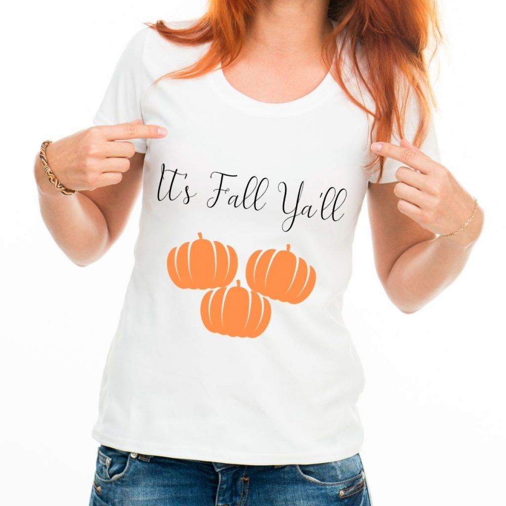 It's fall ya'll with pumpkins graphic tee