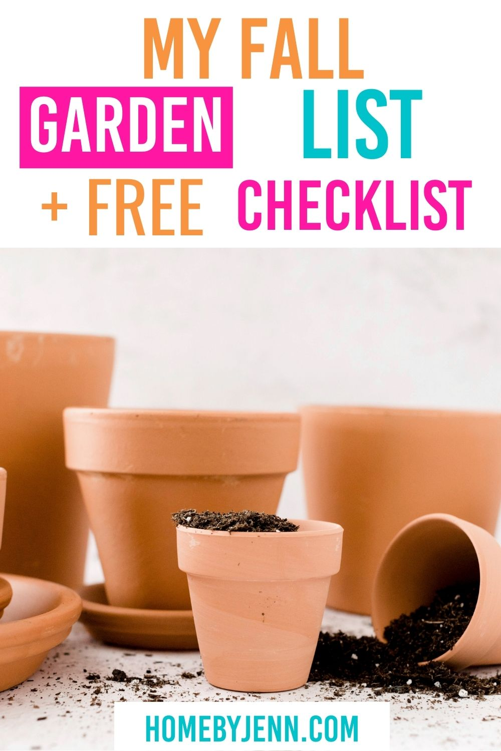 Enjoy your garden with a fall gardening checklist. If you want to grow a year-round garden or enjoy a spring and summer garden you'll want to add a few tasks to your fall gardening list. I'm walking you through what to take care of now in order to enjoy your garden later. via @homebyjenn