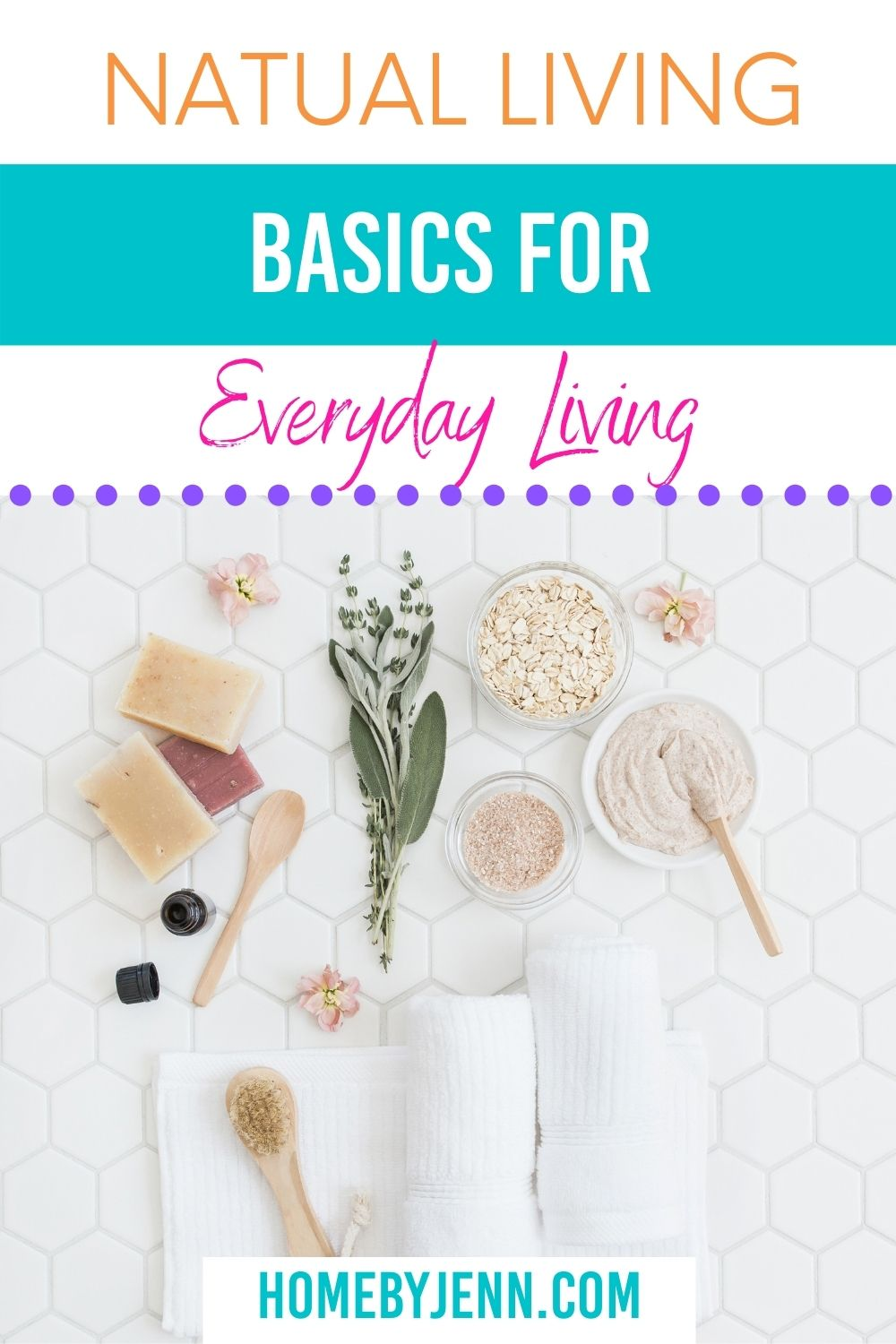 If you've been wanting to live a more natural and eco-friendly life it can be overwhelming to know where to start. Take a look at some natural living ideas for everyday living. By taking small steps you and your family can start living a more natural life with ease. via @homebyjenn