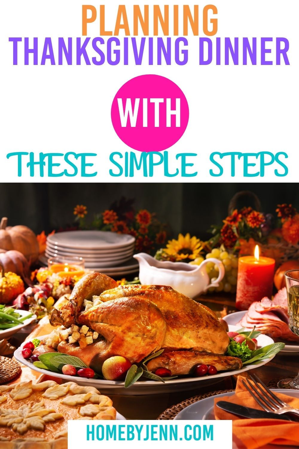 Since we all know how stressfulplanning Thanksgiving dinner is, I've created a free planning Thanksgiving dinner planner to help you! #Thanksgiving #planning #organized #gettingorganized #hosting #howto via @homebyjenn
