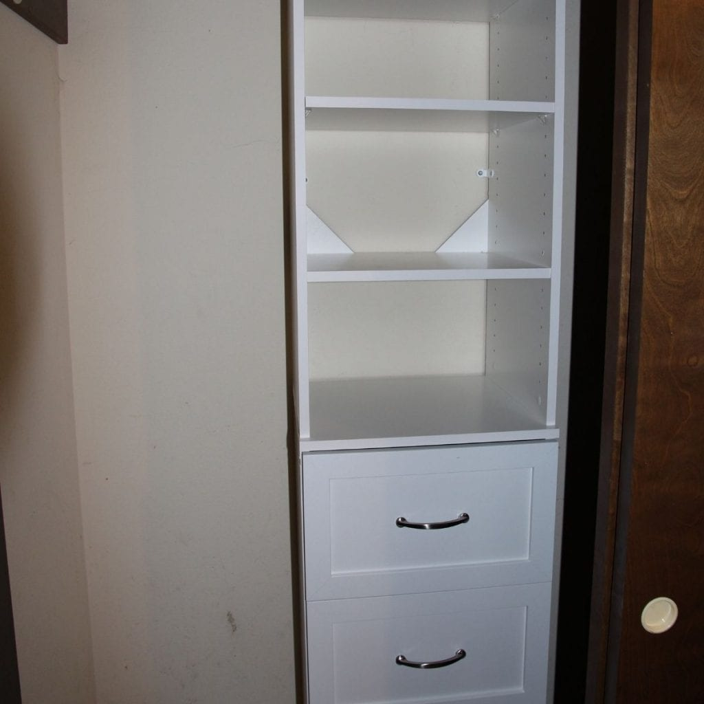 add new closet organizer with drawers