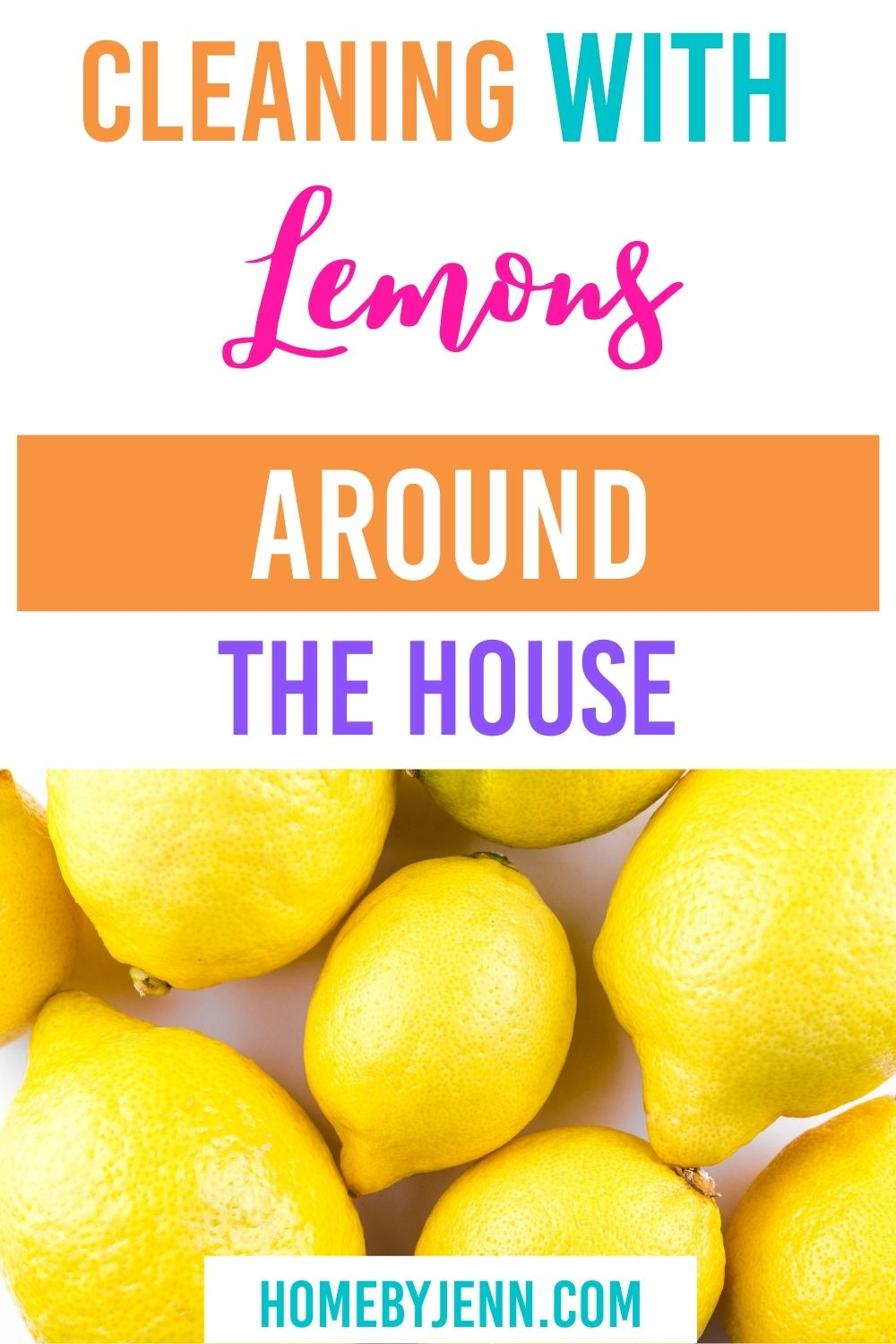 Cleaning with lemons will leave any area smelling fresh and clean. There are so many ways you can clean with lemons. I'm going to show you what to clean with lemons around the house. Lemons might just become your favorite cleaning tool! via @homebyjenn