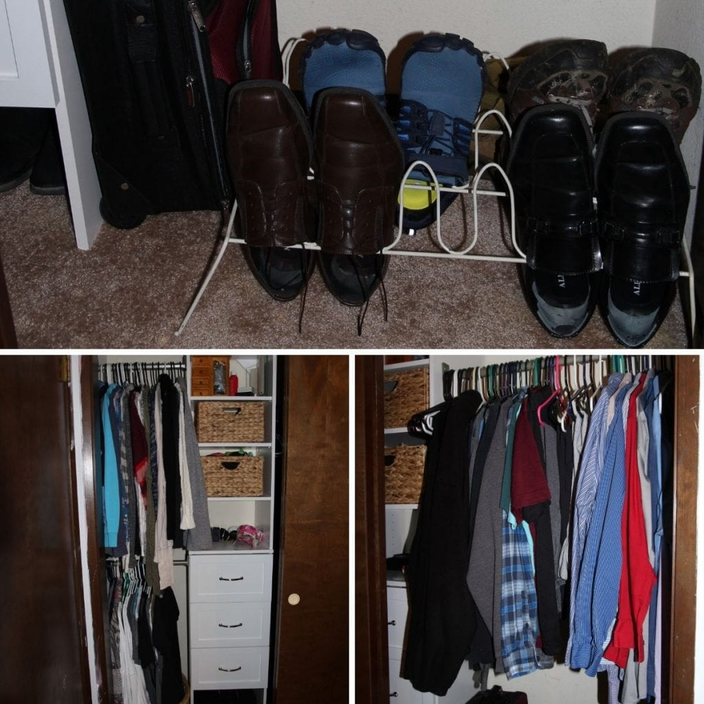 closet makeover after different angles