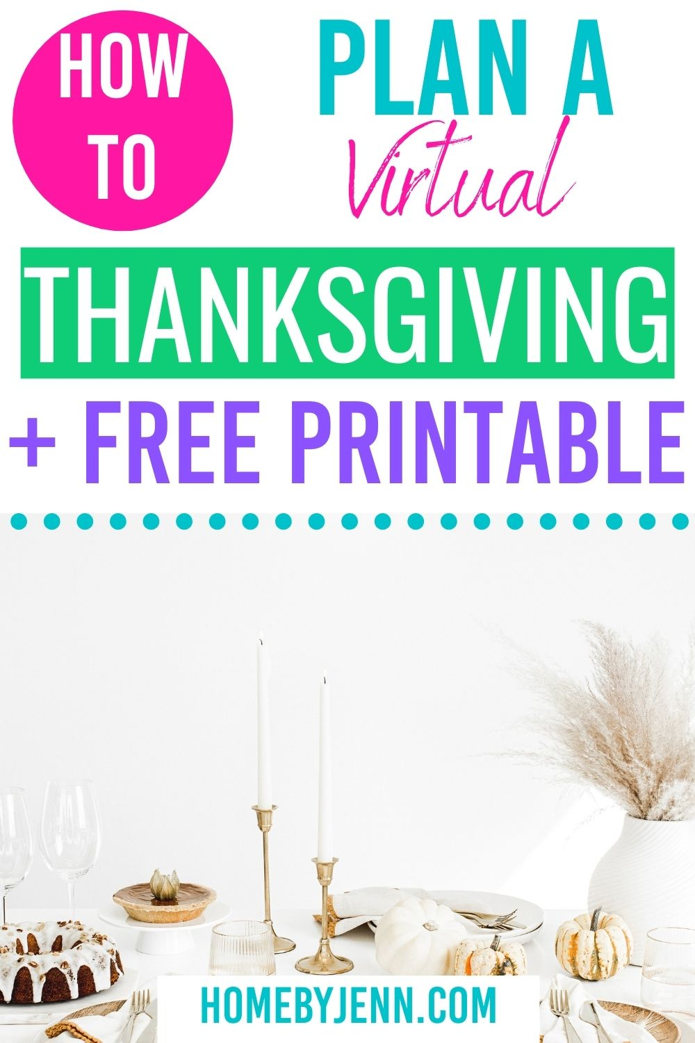 When you have family in town but you're still having a socially distanced Thanksgiving and the weather is too cold for an outdoor Thanksgiving throw a virtual Thanksgiving. Today I'm going to show you how to throw a virtual Thanksgiving with these tips. via @homebyjenn