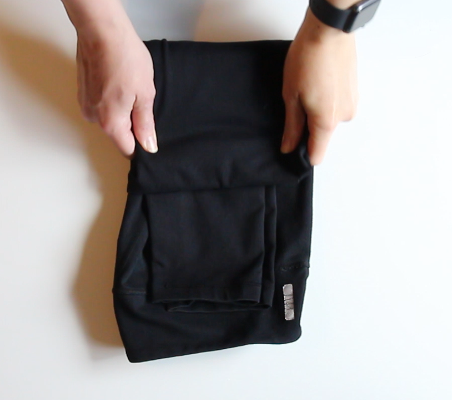 pants fold into thirds
