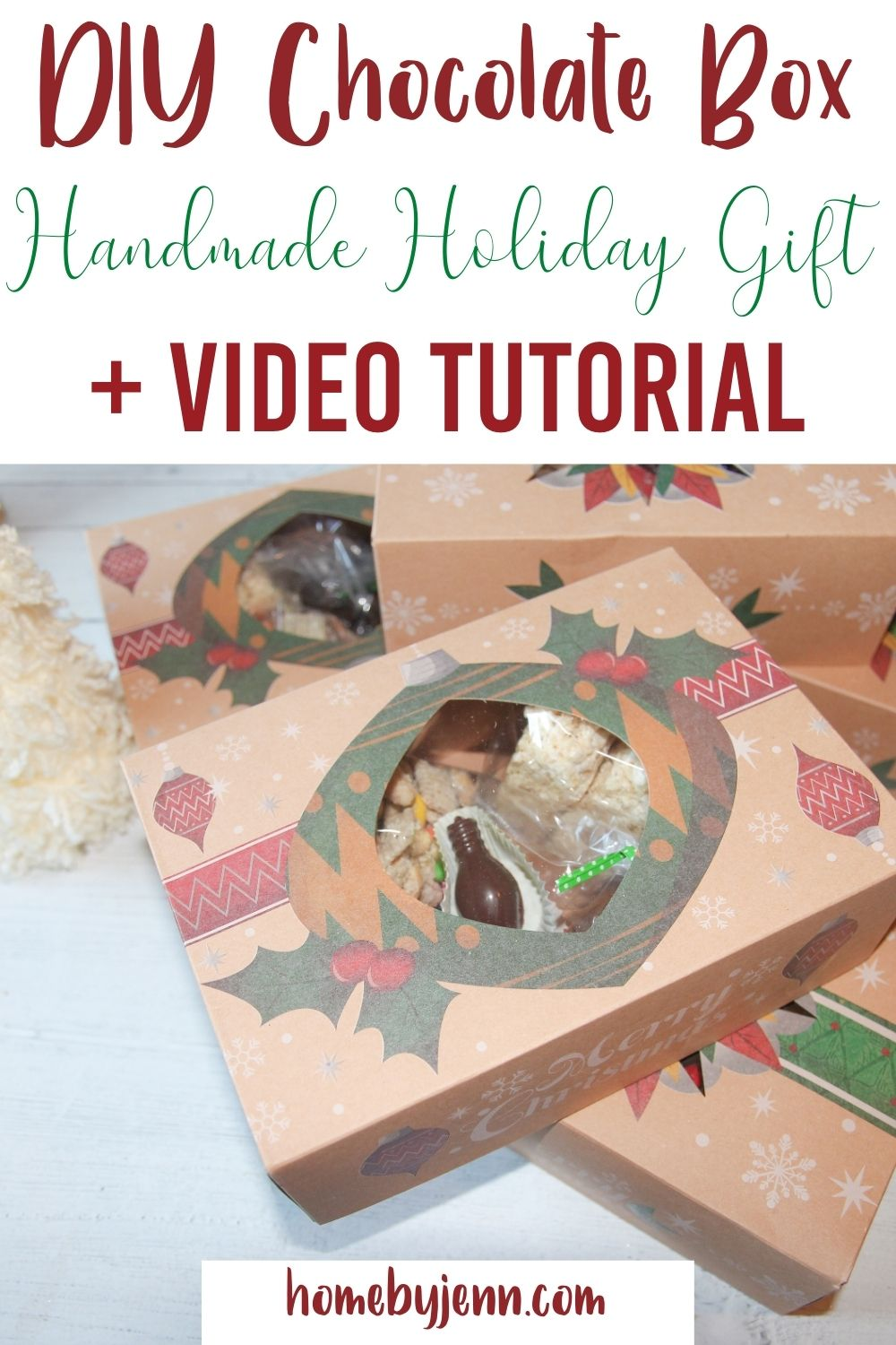 Make an impression on your friends and family by making your own DIY Chocolate Box. This handmade box of chocolates will be perfect to share as gifts this holiday season. The chocolate box is fully customizable allowing you to come up with your own sweet surprises. via @homebyjenn