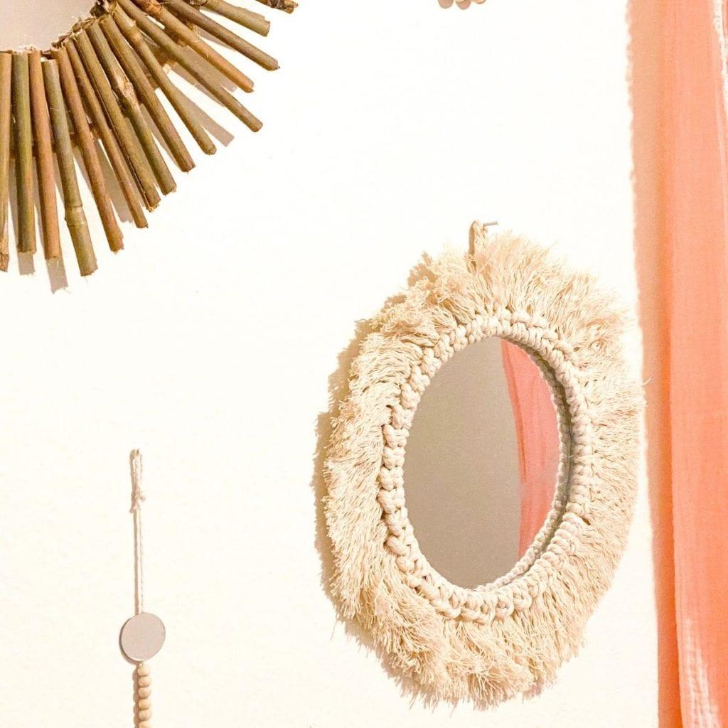 macrame wall mirror
