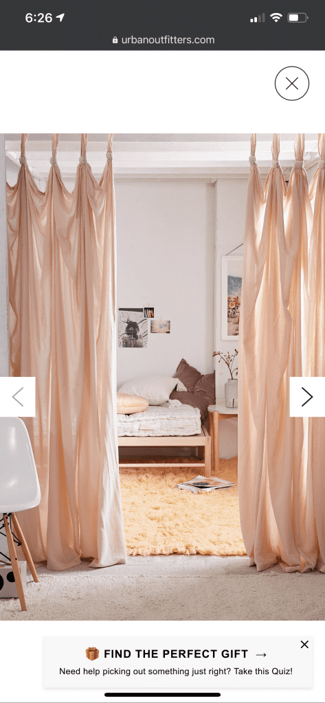 the inspiration curtains from anthropologie.