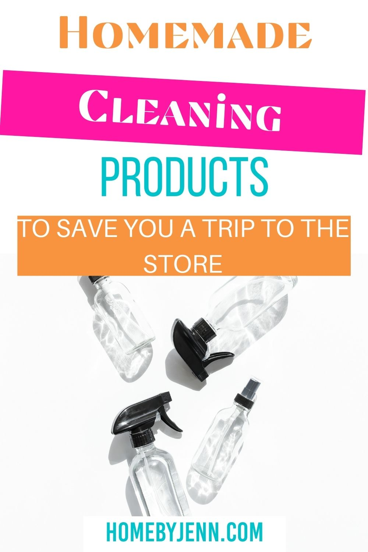 Homemade Cleaning Products via @homebyjenn