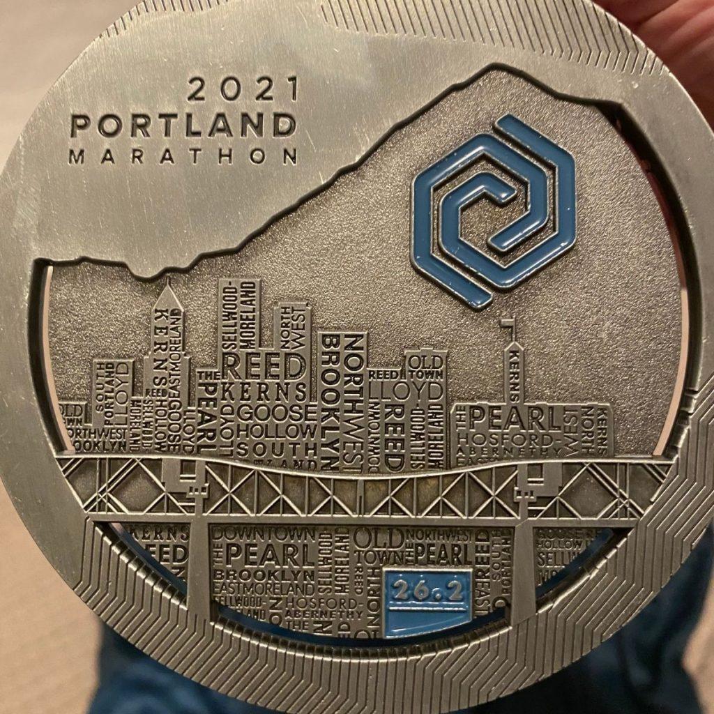 Portland marathon finisher medal